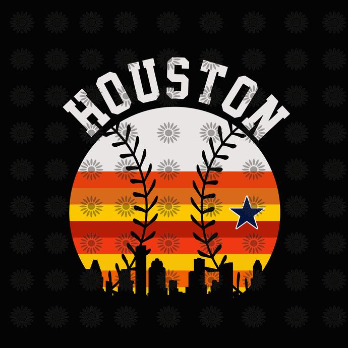 Houston Texas Svg, Houston Strong Pdf Vintage Stripes Svg, Houston Baseball