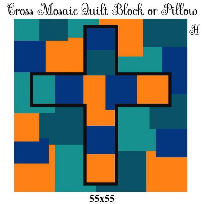 Mosaic Quilt Block Crochet Graph Pattern