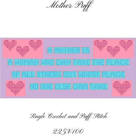 Mother PUFF Blanket Crochet Graph Pattern