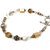 Mixed bead bracelet, casual jewelry, crystal stone and pearl in light colors,
