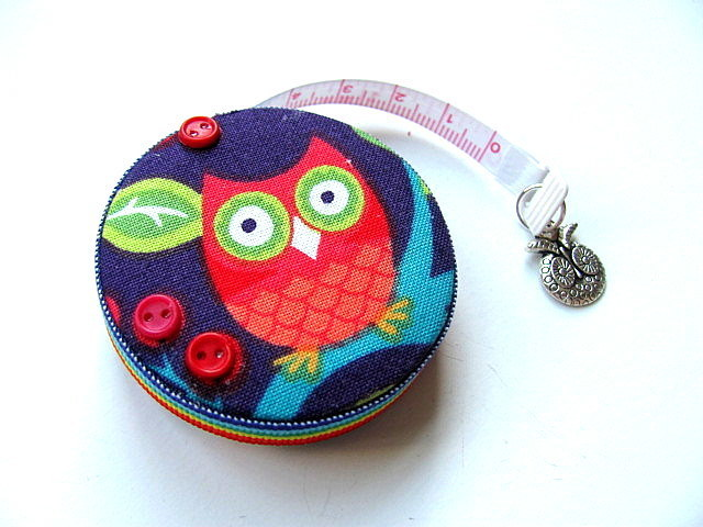 Measuring Tape Owls and Flowers Retractable Pocket Tape Measure