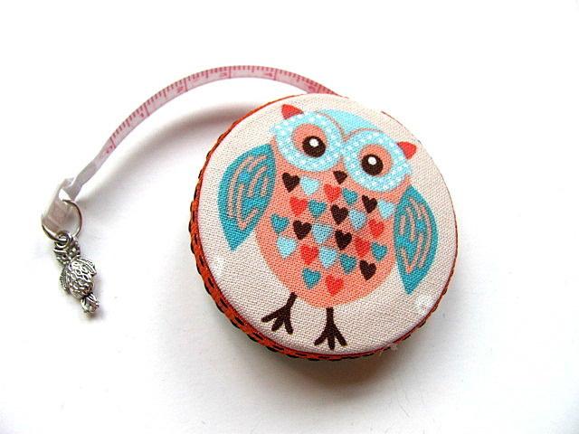 Measuring Tape Heart Owls Retractable Pocket Tape Measure