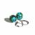Turquoise Sterling Earrings Kingman Arizona Turquoise 12mm Medium Beads Sterling
