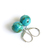 Turquoise Sterling Earrings Kingman Arizona Turquoise 12mm Large Beads Sterling