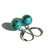 Turquoise Sterling Earrings Kingman Arizona Turquoise 10mm Medium Beads Sterling
