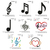 Musical note set embroidery design ,music note embroidery, embroidery pattern No