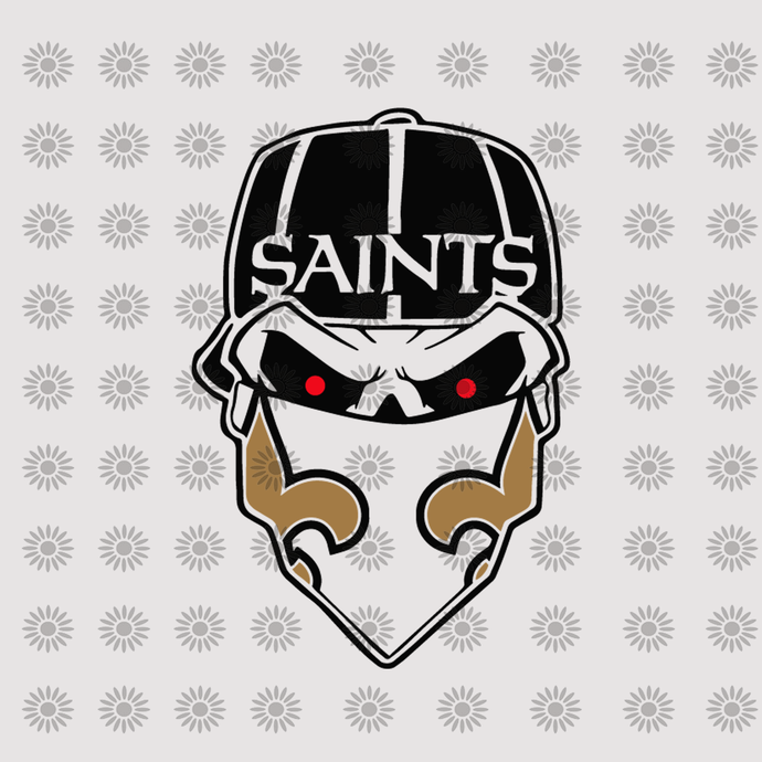 New Orleans Saints New Orleans Saints Svg New Orleans Saints Logo Skull Saints Svg New Orleans Svg Png Dxf Eps File For Cricut Silhouette