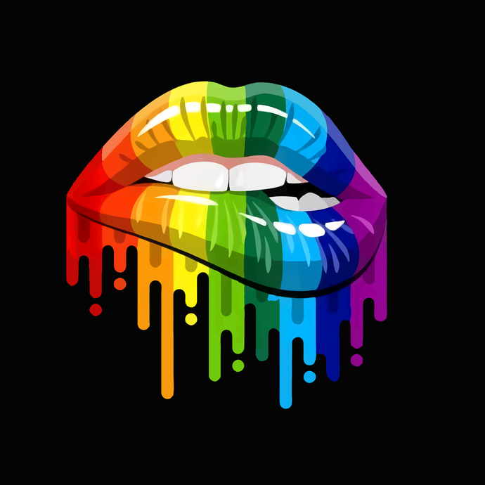 Sexy Rainbow Dripping Lips SVG | LGBT Dripping Lips ,Lips sexy svg, lips svg,