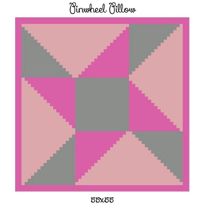 Pinwheel Pillow Crochet Graph Pattern
