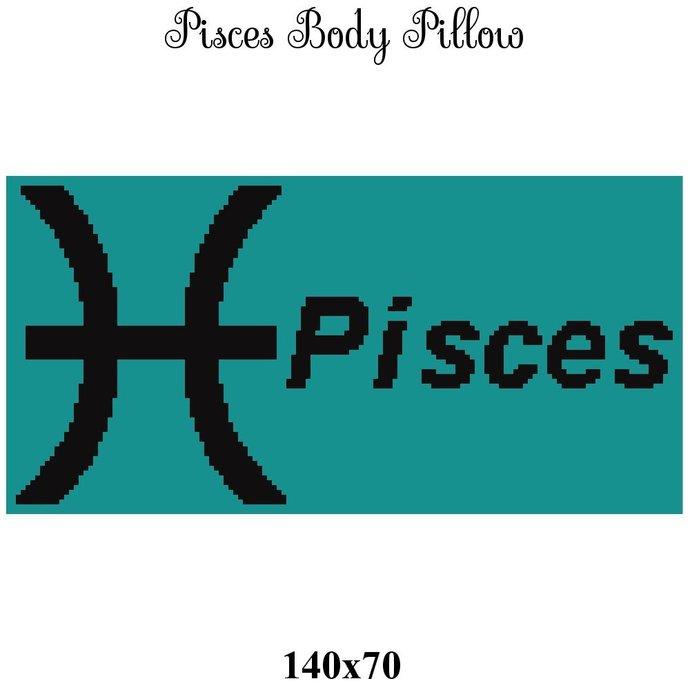 Pisces Pillow Crochet Graph Pattern