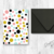 Downloadable  Multicolored Polka Dot Card