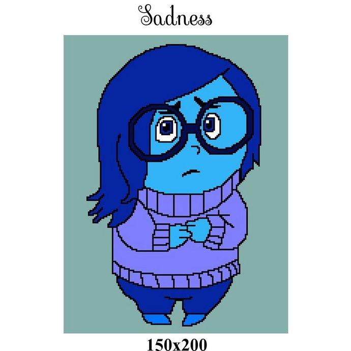 Sadness Blanket Crochet Graph Pattern