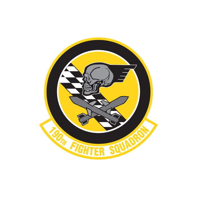 190th Fighter Squadron Patch - Wall Decal - Variety of Sizes Available