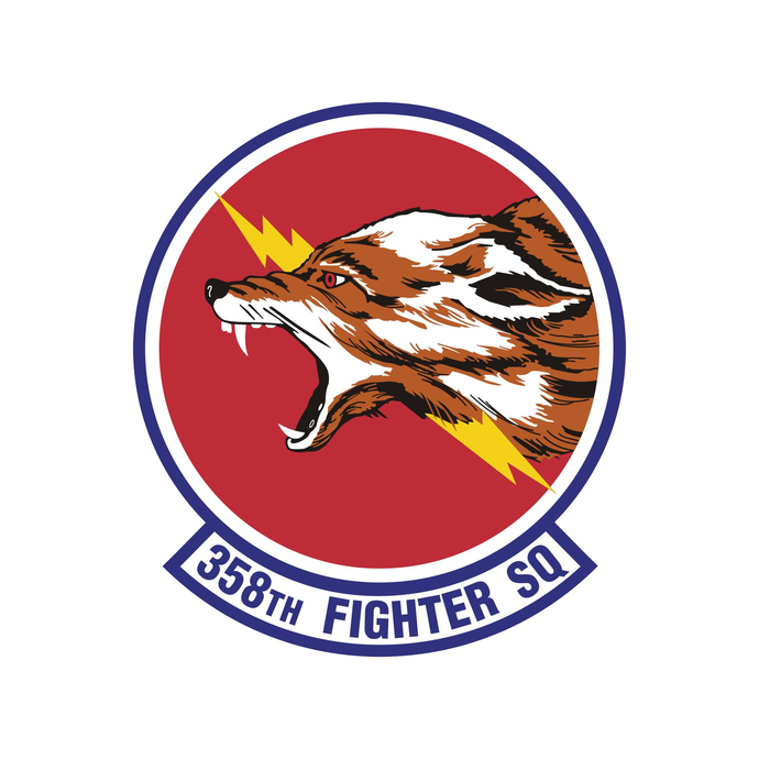 358th Fighter Operations Squadron Patch - Wall Decal - Variety of Sizes