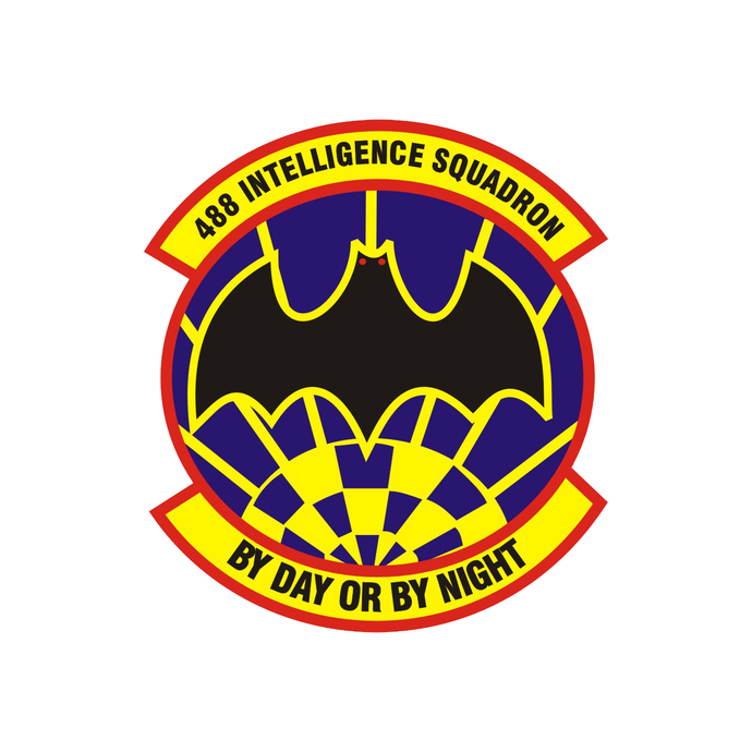 488th Intelligence Squadron Patch - Wall Decal - Variety of Sizes Available