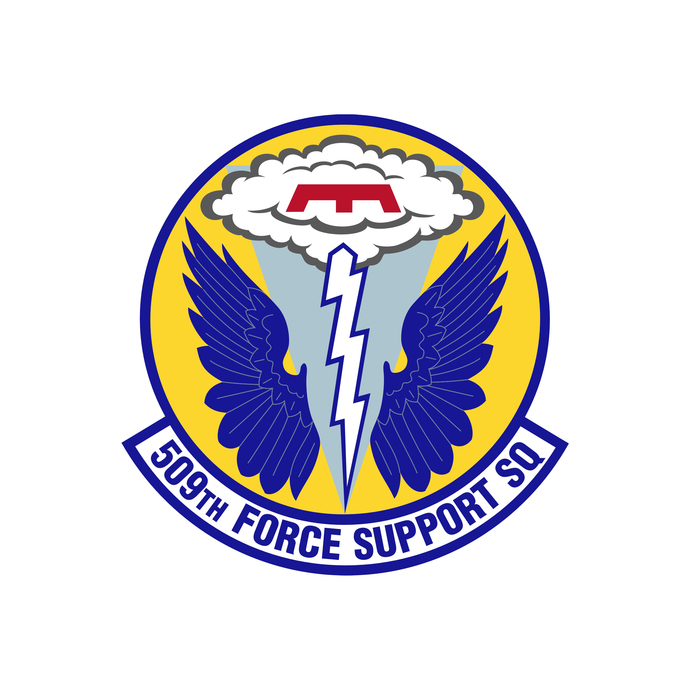 509th Force Support Squadron Patch - Wall Decal - Variety of Sizes Available