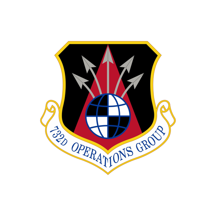 732nd Operations Group Squadron Patch - Wall Decal - Variety of Sizes Available