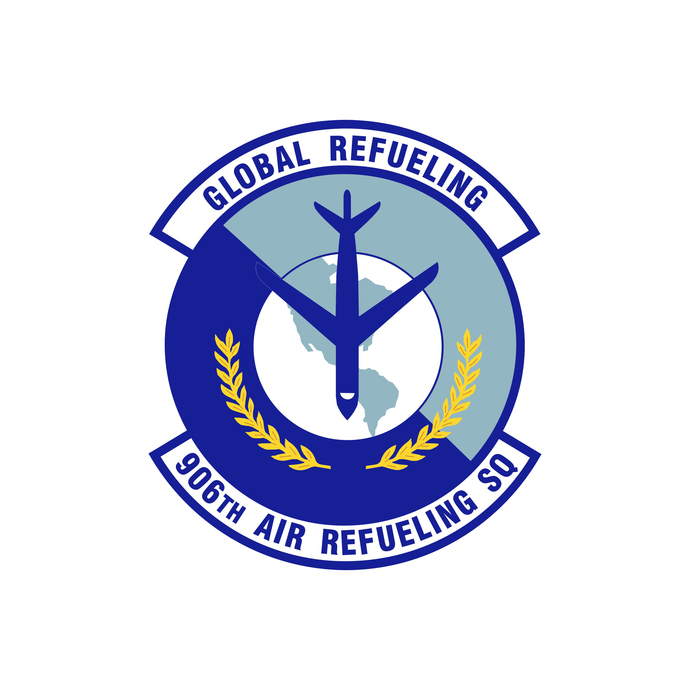 906th Air Refueling Squadron Patch - Wall Decal - Variety of Sizes Available
