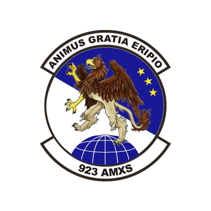 923rd AMXS Squadron Patch - Wall Decal - Variety of Sizes Available