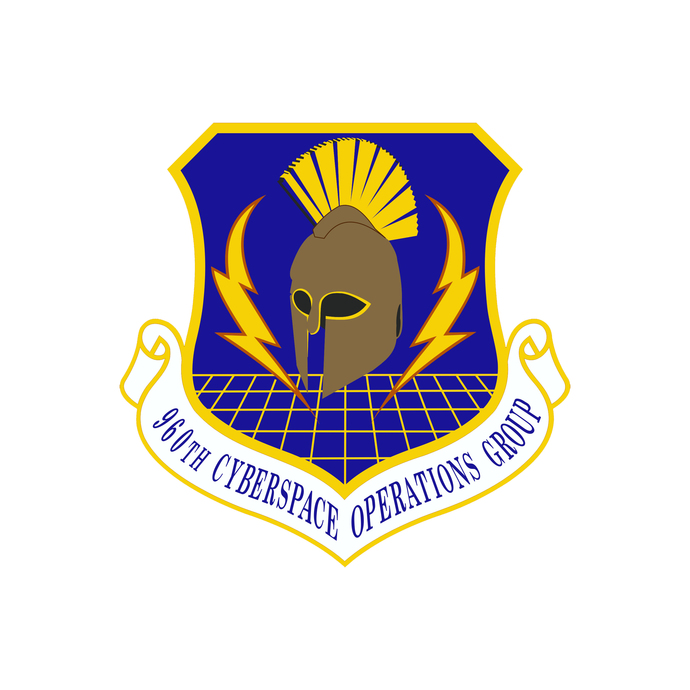 960th Cyberspace Operations Group Squadron Patch - Wall Decal - Variety of Sizes