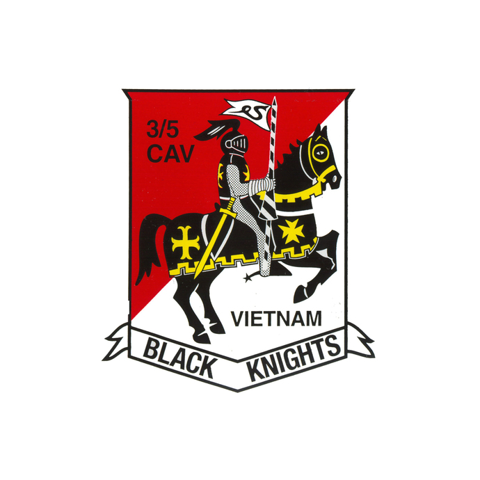 Crawford Black Knight Squadron Patch - Wall Decal - Variety of Sizes Available