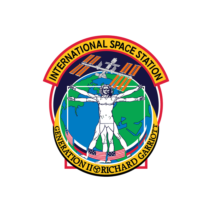 International Space Station Generation Richard Garriott Patch - Wall Decal -