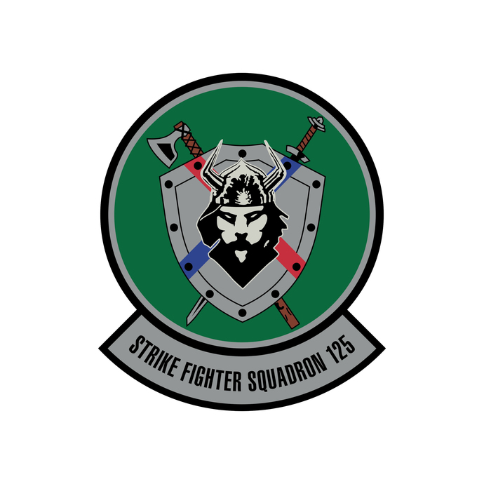 Strike Fighter Squadron 125 Patch - Wall Decal - Variety of Sizes Available