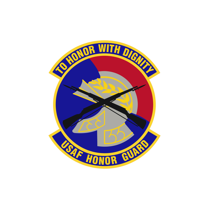 USAF Honor Guard Patch - Wall Decal - Variety of Sizes Available
