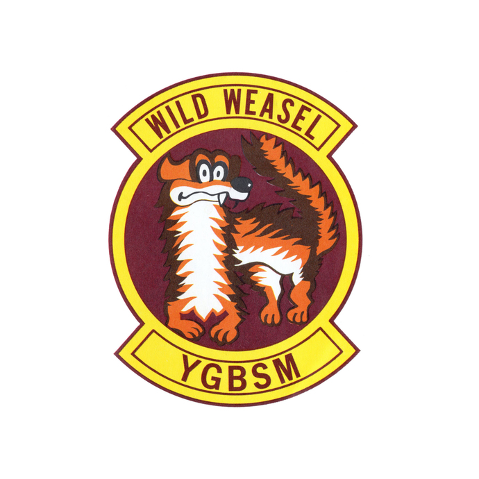 Wild Weasel YGBSM Patch - Wall Decal - Variety of Sizes Available