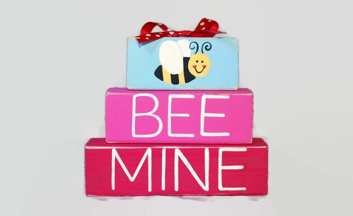 Bee Mine Bumble Bee Valentines Day Decor Red Pink Secret Crush Gift Husband Wife
