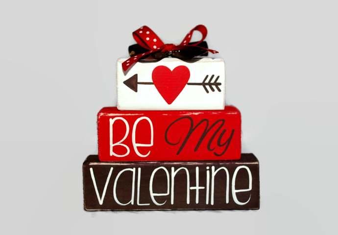 Be My Valentine Cupid Valentines Day Heart Red Decor Boyfriend Husband Secret