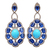 925 Sterling Silver Turquoise Kynite Diamond Danglers Earring Jewelry,Kynite