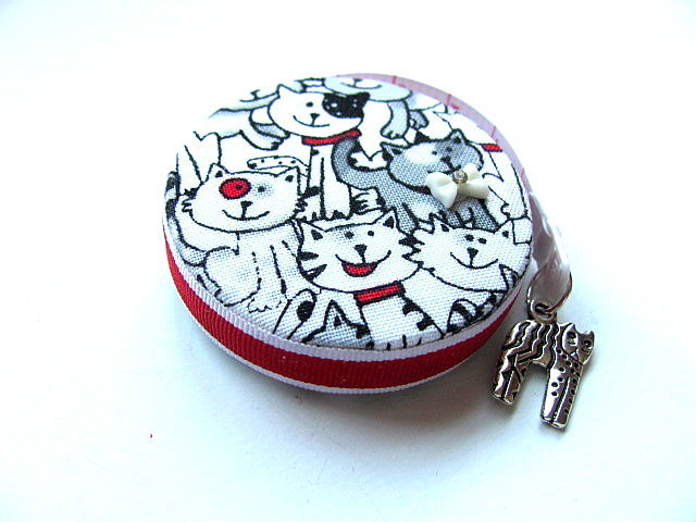 Tape Measure Black and White Cats Retractable Measuring Tape
