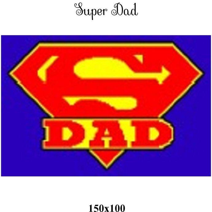 Super Dad Blanket Crochet Graph Pattern