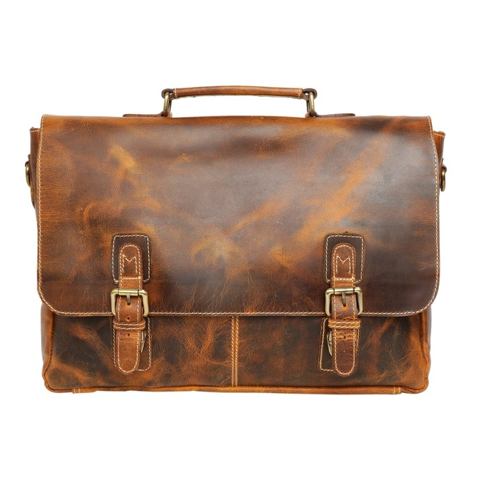 4a36f88b1e1a 16 inch Genuine Leather Briefcase Bag Leather Messenger Bag 15 Inch Laptop  Satchel,Crossbody Bag, Leather Briefcase