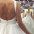 Elegant Open Back White Tulle Ruffles Wedding Dress with Spaghetti Straps,