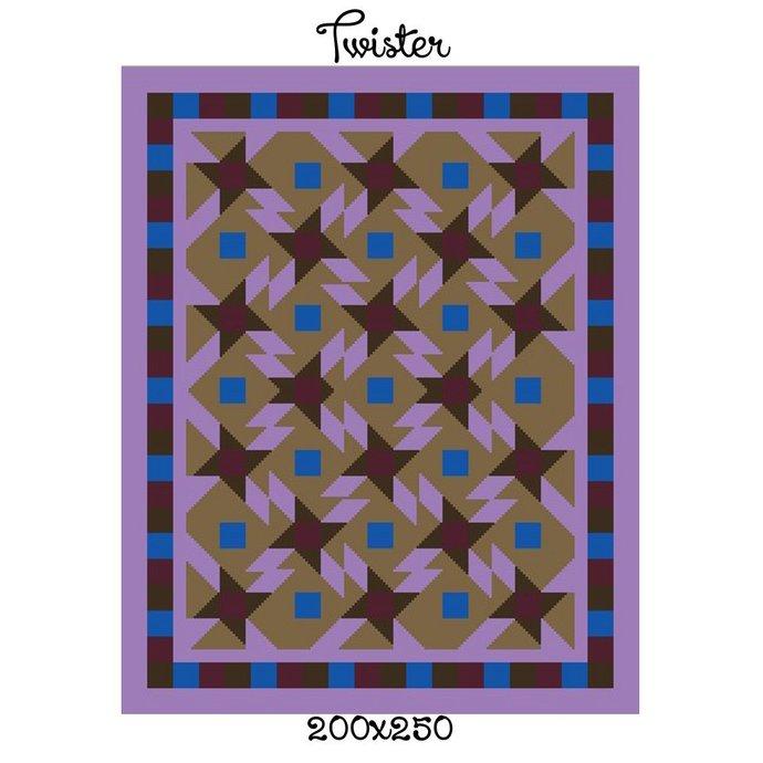 Twister Blanket Crochet Graph Pattern