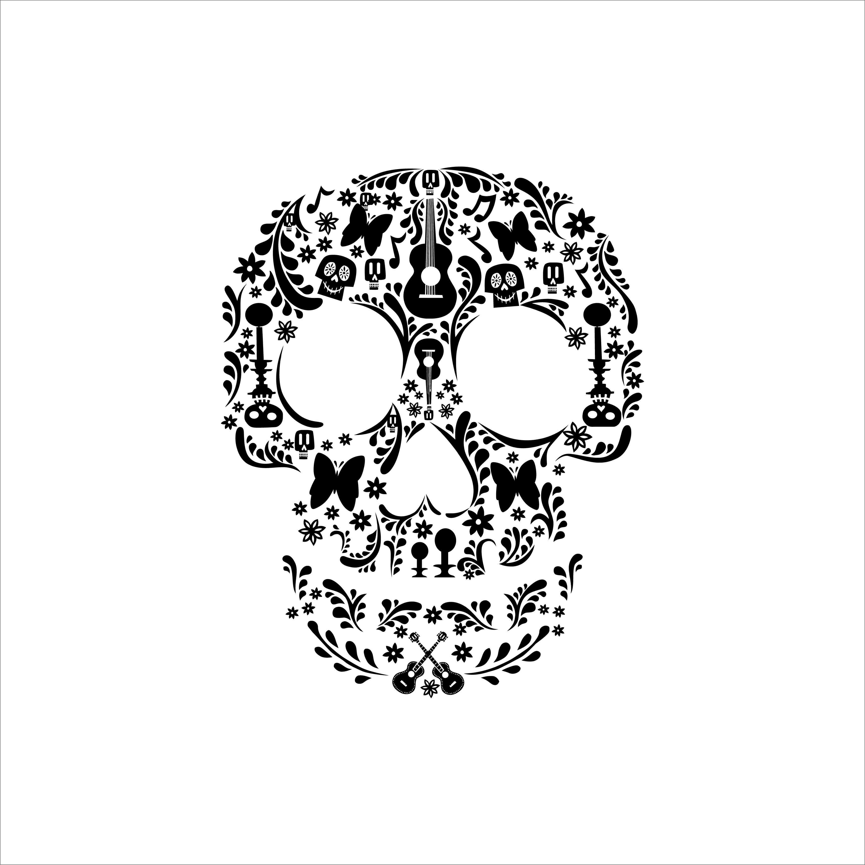 Coco Skull Disney Graphics Design Svg Dxf Eps By