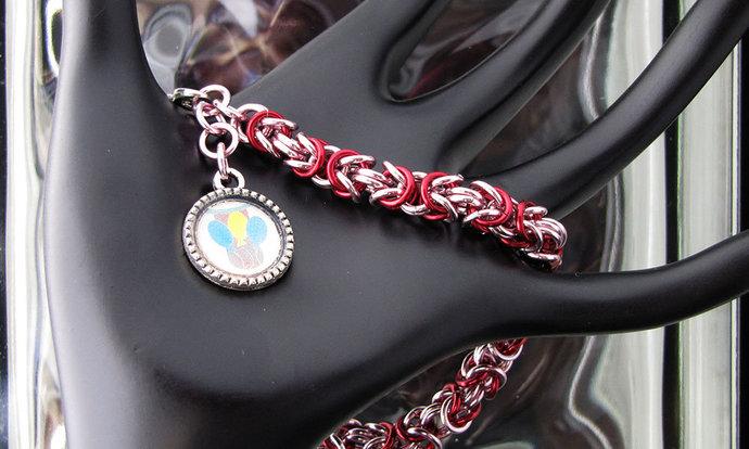 ML Pony Themed Byzantine Chainmaille Bracelet - Item Number 3071