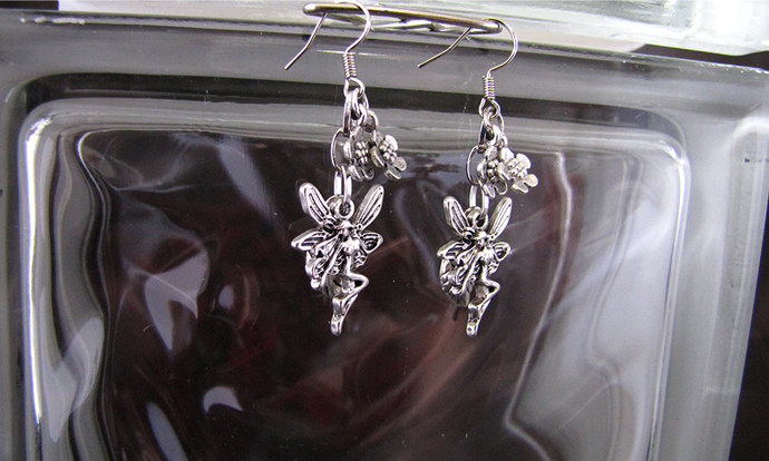 Silver Spring Fairy Earring Set - Item Number 5370