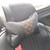 Lv car seat headrest - Upcycled car headrest - repurposed lv car headrest -