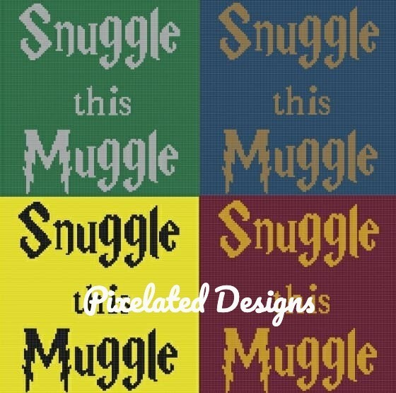 Snuggle this Muggle - SC - 110x110 Baby - HP House Color Bundle - Graphs