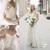 2019 stunning Summer Sheer Neck Bohemian Chiffon beach Wedding Dresses Cheap