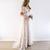 2019 Summer Boho Beach Wedding Dresses Short Sleeves Sexy Deep V Neck Lace