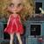 Red pure silk tutu dress by Cindy Sowers OOAK