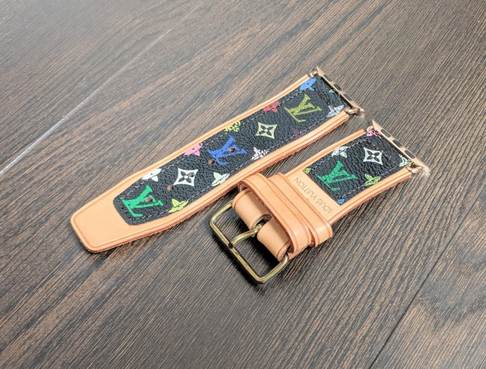 Customized altered apple watch band, Louis Vuitton watch band, LV watch band,