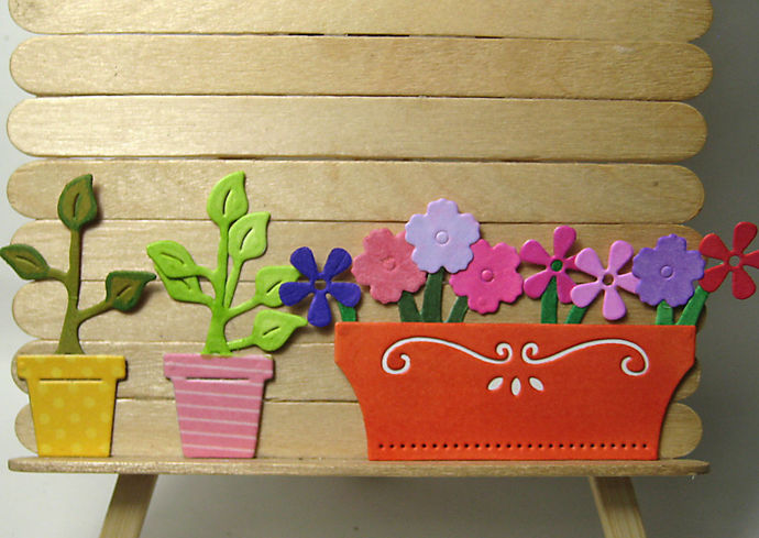 11pc Wood Planting Table and Flower Box Die Set Die Set