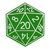 D20 Patch Style Vinyl Decal - Custom Sizes Available