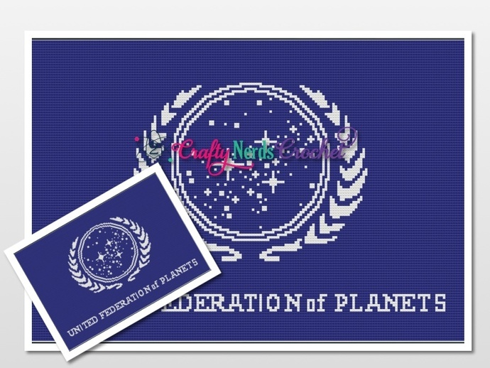United Federation of the Planets Pattern Graph With Single Crochet Written