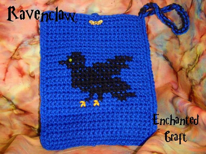 Black RAVEN Ravenclaw Bag- cozy for your KINDLE 3, e-reader, nook or use it as a